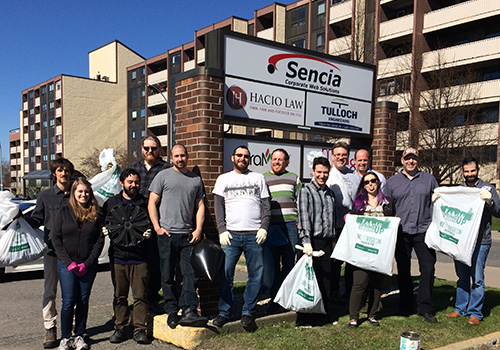 Sencia spring up to clean up