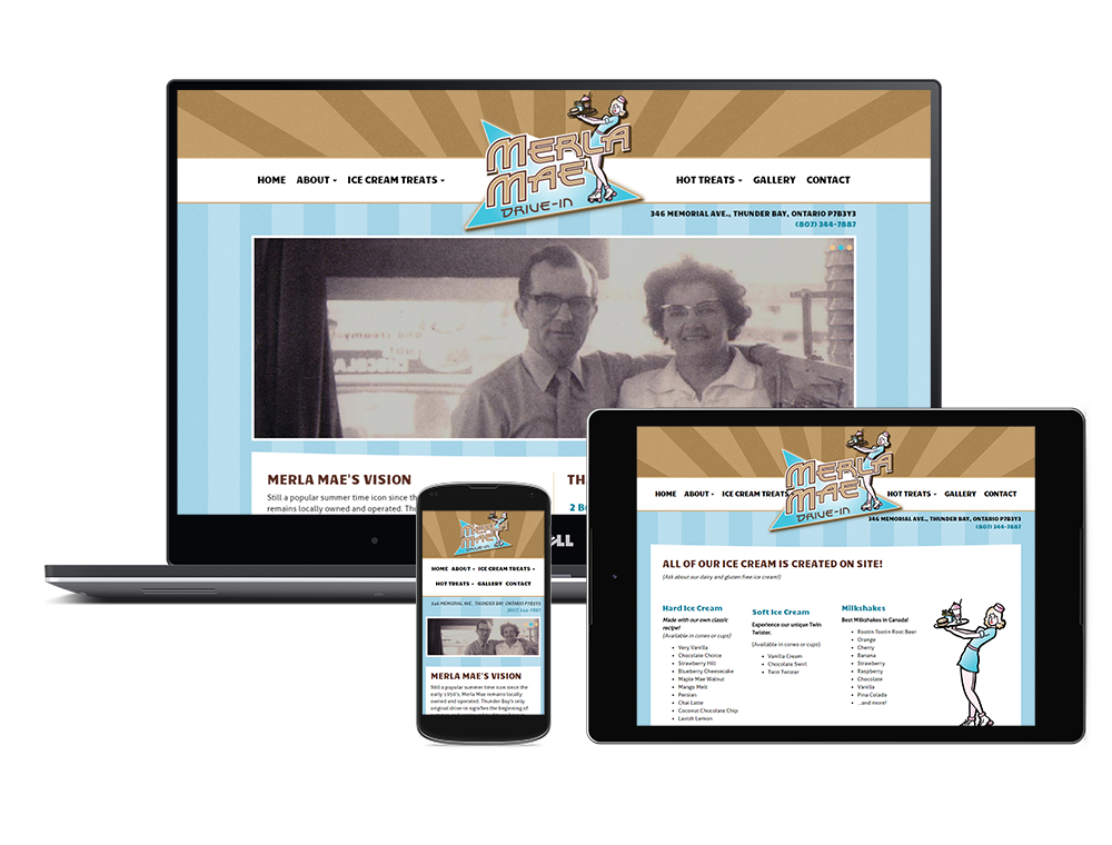 Merla Mae Responsive Website Design